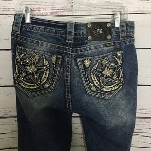 Miss me relaxed boot star pockets
